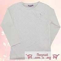 Блузка молочного цвета для девочек от 6 до 13 лет (5462-2)