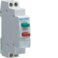 Hager выключатель двухкнопочный обратный  1НВ+1НЗ.1м(SVN-391)