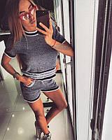 Костюм Doratti модный стильный топ и шорты хлопковая пряжа chanel- меланж Ddor511