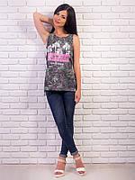 Женская футболка-туника разрезами по бокам p.42-48 VM1975-1