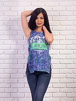 Женская футболка-туника разрезами по бокам p.42-48 VM1975-2