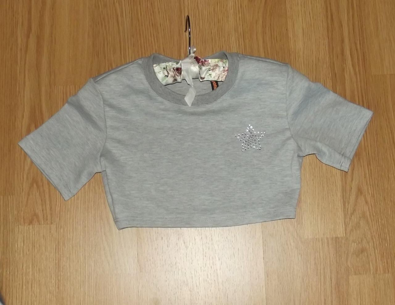 Подростковый топ для девочки (укороченный)с коротким рукавом