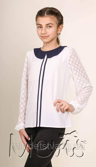 4e59b2190e9 Школьная блуза для девочки TM Mevis оптом р.164 см (белый) ост.1 шт ...