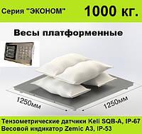 Платформенные весы 1250х1250, 1000 кг, Эконом.