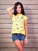 Женская футболка с принтом падны Хлопок p.42-48 VM1978-4