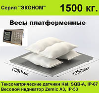 Платформенные весы 1250х1250, 1500 кг, Эконом.