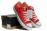 Converse All Star Женские кеды  низкие красные, фото 1