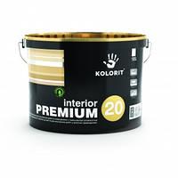 Краска латексная с высокой стойкостью к мытью Interior PREMIUM 20 (Интериор Премиум 20, Колорит) 9 л