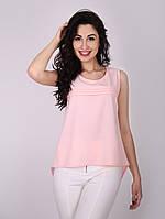 Блуза со складами на полочке-1031