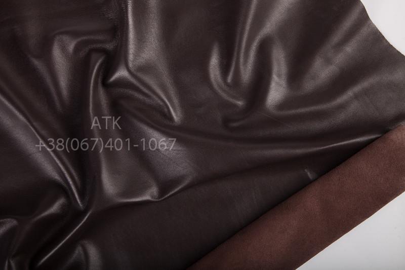 Кожа одежная наппа коричневая