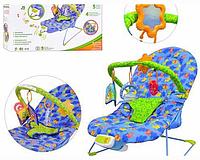 Шезлонг качалка детский музыкальные Bambi 60661