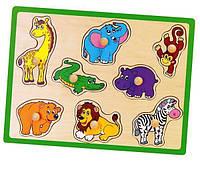 Деревянный пазл Дикие животные 50019 Viga Toys