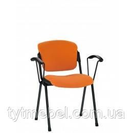 Офисный стул для посетителей Эра ERA arm black С NS