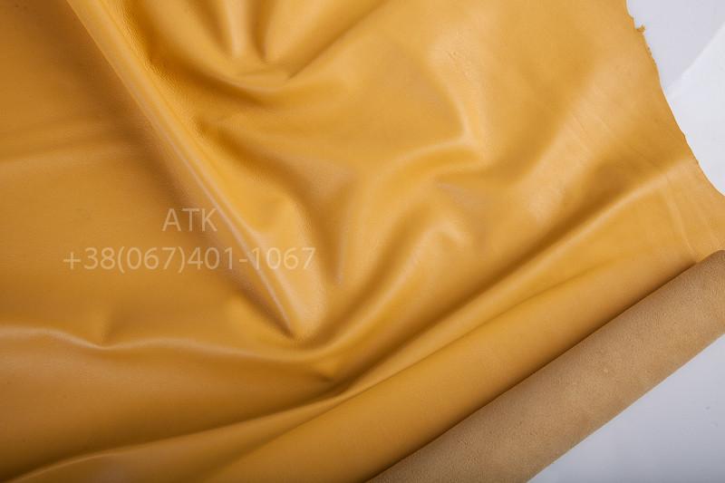 Кожа одежная наппа рапсово-желтая
