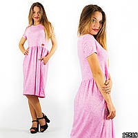 Розовое платье 17518/2