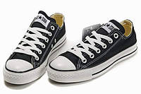 Женские кеды Converse All Star низкие черные, фото 1