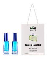 Lacoste Essential (М) зеленые ПАРФЮМ в ПОДАРОЧНОЙ УПАКОВКЕ 40 мл(2шт по 20 мл)