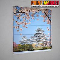 Римские шторы японский город