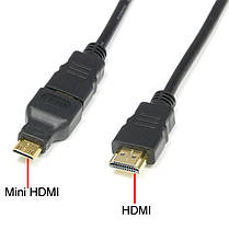 Кабель Hdmi на Hdmi 1.5м 3 в 1 micro mini hdmi, фото 2