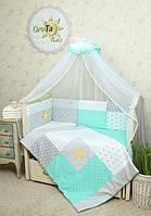 Постельный набор для новорожденного Звездное Сияние 7пр.  GreTa Lux, фото 1