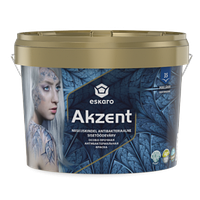 Akzent 0,9 л - Особо прочная aнтибактериальная влагостойкая полуглянцевая интерьерная краска