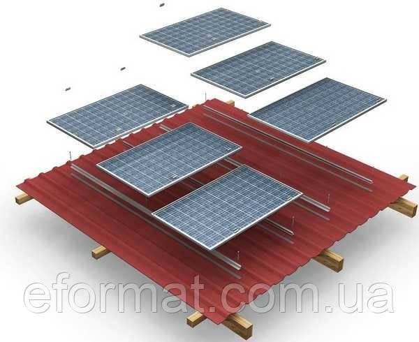 Комплект креплений для солнечных панелей на скатную крышу (на 10 панелей)