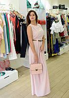 Женское платье летнее длинное  розовое  брендовое