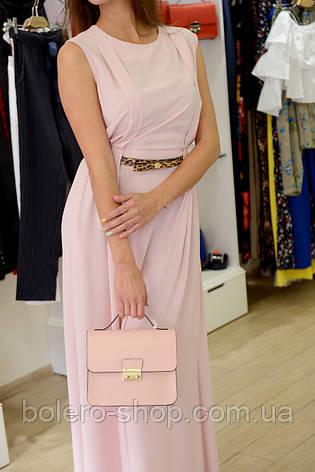 Женское платье летнее длинное  розовое  брендовое , фото 2
