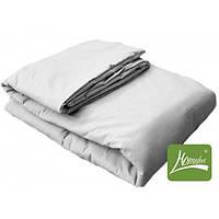 Комплект одеяло+подушка, 90*120см, шерсть, хлопок, белый, в сумке 50*30см, ТМ Homefort
