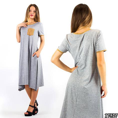 Серое платье 17527, фото 2