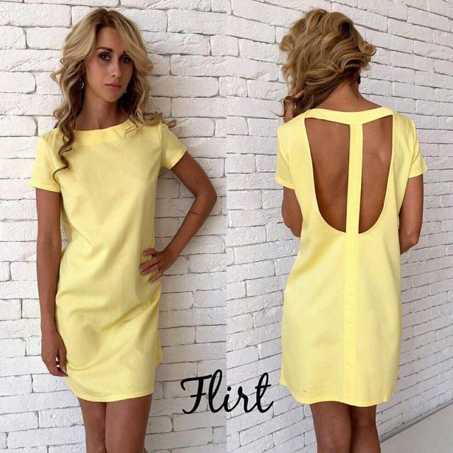9a0e138ddd0 Платье с открытой спиной желтое  продажа