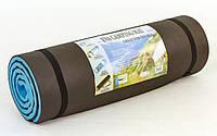 Каремат туристический двухслойный (15мм) TY-3212 черно-голубой