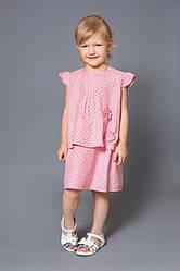 Платье детское (розовое, принт звезды)