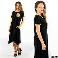 Черное платье 17527