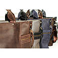 Кожаная мужская сумка Mk39.1 синяя, фото 7