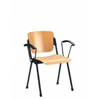 Офисный стул для посетителей Эра ERA arm wood black NS