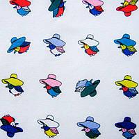 Ткань блузочная принтованная «Маркет» (P5672 дизайн 80)
