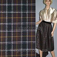 Шотландка костюмная ткань в клетку с люрексом