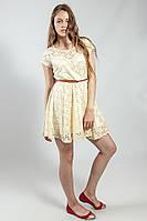 Платье женское летнее гипюровое с поясом MelaL.London