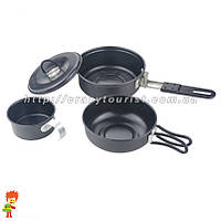 Компактный набор туристической посуды 3 в 1 Easy Camp NS- 200, фото 1
