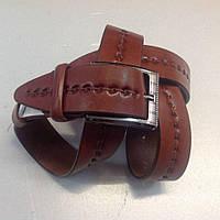 Оригинальный коричневый ремень,кожа