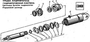 38 Гідравлічна система (Поршневий циліндр)