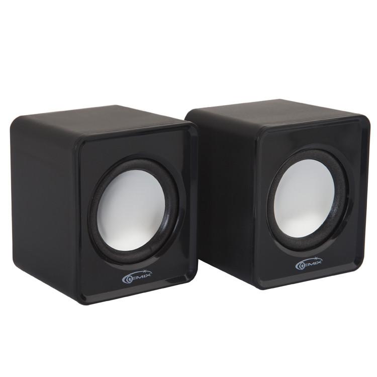 Колонки 2.0 Gemix Mini Black USB / 2x3Вт / 200-20000Hz / пластик