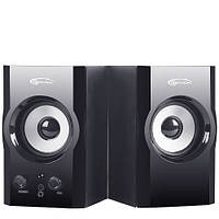 Колонки 2.0 Gemix TF-3 Black / 2x3Вт / 100-18000Hz / МДФ / mini-jack 3.5, RCA / управление спереди