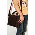 Кожаная мужская сумка Mk39.1 коричневая, фото 5