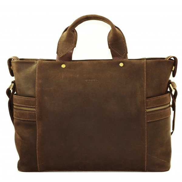 Кожаная мужская сумка Mk39.1 коричневая