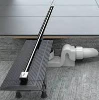 Комплект Viega: лоток Advantix Vario, дизайн-вставка Visign SR2 глянцевая
