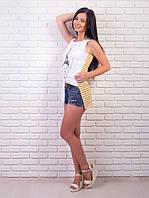 Женская футболка на завязках длинная спинка p.42-48 VM1995-1