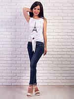 Женская футболка на завязках длинная спинка p.42-48 VM1995-2