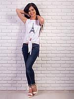 Женская футболка на завязках длинная спинка p.42-48 VM1995-3
